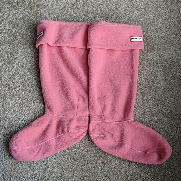 Hunter light  pink peach boot socks L